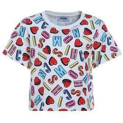 MOSCHINO Tshirt z nadrukiem alphabet heart color