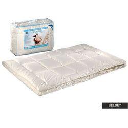 SELSEY Kołdra Aksamitna z poduszkami 70x80 cm kremowa