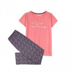 Bawełniana piżama damska Atlantic NLP 450 różowy