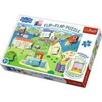 Puzzle, Flip-Flap Puzzle z okienkiem 36 Świat Świnki Peppy
