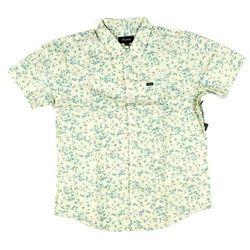 koszula BRIXTON - Charter S/S Wvn Off White/Dusty Blue (WDSBL) rozmiar: L