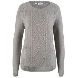 Sweter z dłuższymi bokami, długi rękaw bonprix ciemnoniebieski