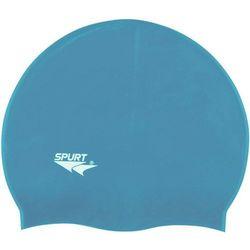 Czepek silikonowy SPURT SH71 Jednokolorowy Połysk Niebieski