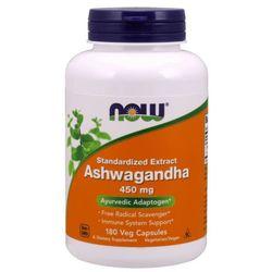 NOW FOODS Ashwagandha Extract 450mg - 180 kapsułek