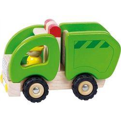 Samochód drewniany - śmieciarka