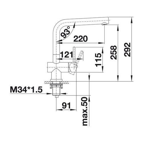 Baterie do kuchni, Bateria Blanco Lomis 518718