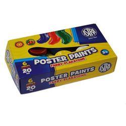 Farby plakatowe 6 kolorów - 20ml ASTRA