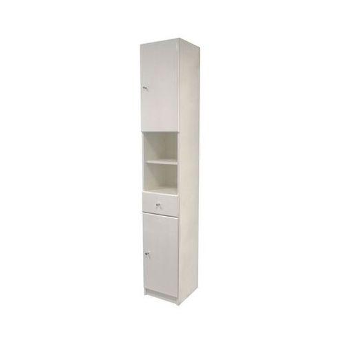 Regały łazienkowe, Słupek łazienkowy Rumba 30 x 184,2 x 33 cm biały