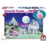 Puzzle, Puzzle 200 Jednorożec + pluszowy brelok G3