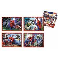 Puzzle, Puzzle 4v1 Spiderman/Disney Marvel Spiderman v krabici 28x28x6cm