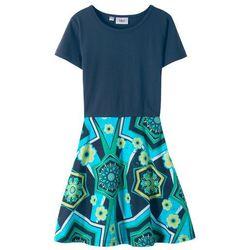 Sukienka shirtowa bonprix ciemnoniebiesko-niebieski oceaniczny