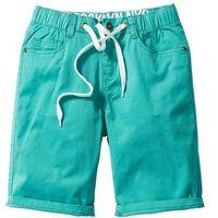 Krótkie spodenki dziecięce, Luźniejsze bermudy z wywijanymi nogawkami bonprix zielony oceaniczny