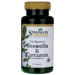 SWANSON Boswellia & Curcumin 60kaps.
