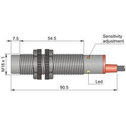 Czujnik pojemnościowy Fi 18 mm SC18SP-CE10 PNP NO+NC LC10
