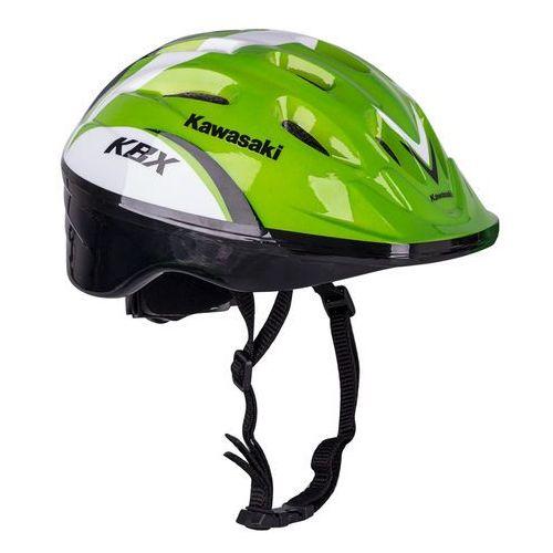 Kaski, gogle i ochraniacze dla dzieci, Kask na rower, rolki, hulajnogę Kawasaki Shikuro – PROMOCJA, Zielony, S (48-50)
