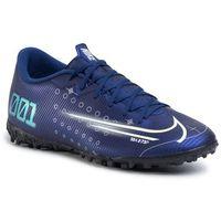Piłka nożna, Buty NIKE - Vapor 13 Academy Mds Tf CJ1306 401 Blue Void/Barley Volt/White