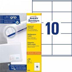 Trwałe etykiety uniwersalne Avery Zweckform A4 100ark./op. 105x57mm białe