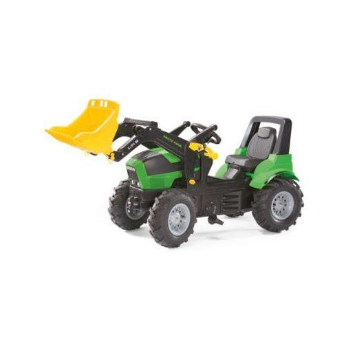 Traktory dla dzieci, ROLLY TOYS Traktor rollyFarmtrac Deutz Agrotron 7250 TTV z rollyTrac łopatą 710133