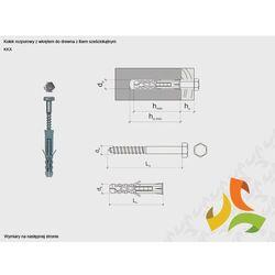 KKX 14/10x120 kołek rozporowy z łbem sześciokątnym (100szt)