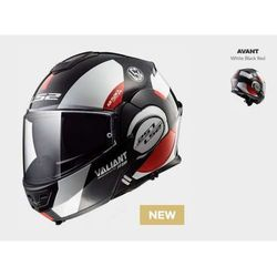 KASK LS2 FF399 VALIANT AVANT WHITE BLACK RED
