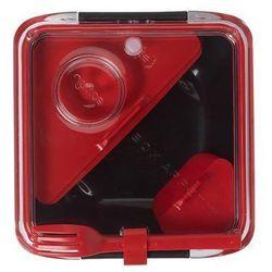 Pudełko na lunch Box Appetit czerwono-czarne z czerwonymi akcesoriami