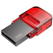 BASEUS dysk flash Red-Hat USB/USB-C, 32 GB, czerwony (ACAPIPH-EA9)
