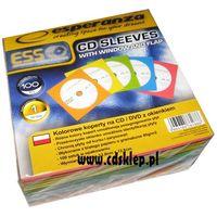 Pudełka i portfele na płyty, Koperty papierowe kolorowe z okienkiem 1000szt.