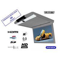 "Pozostałe car audio-video, NVOX RF156HDMI GR Monitor podwieszany podsufitowy LCD 15"" cali FULL HD LED HDMI USB SD IR FM"
