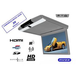 """NVOX RF156HDMI GR Monitor podwieszany podsufitowy LCD 15"""" cali FULL HD LED HDMI USB SD IR FM"""