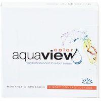 Soczewki kontaktowe, AquaView Color 2 szt. - zerówki