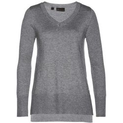 Sweter bez zapięcia bonprix niebieskozielony morski w paski