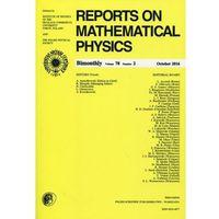 Gazety i czasopisma, Reports on Mathematical Physics 78/2 2016 Pergamon (opr. miękka)