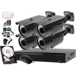 Zestaw do monitoringu: Rejestrator LV-XVR44N, 4x Kamera LV-AL60HVT, 500GB, akcesoria