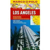 Mapy i atlasy turystyczne, Los Angeles 1:15 000. Laminowany plan miasta. Marco Polo (opr. miękka)