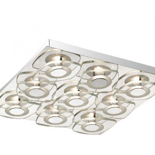 Lampy sufitowe, Plafon LAMPA sufitowa BILL C29385F-3P Italux szklana OPRAWA LED 40,5W nowoczesna chrom przezroczysta