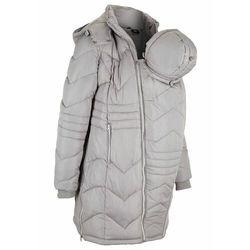 Płaszcz ciążowy pikowany z wstawką na nosidełko niemowlęce bonprix srebrny