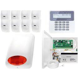 Alarm do domu, sklepu, firmy, magazynu z powiadomieniem GSM: Płyta główna Perfecta 16 + Manipulator PRF-LCD + 8x Czujnik ruchu + Akcesoria