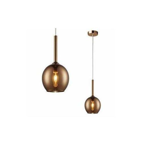 Zestawy i sprzęt DJ, LAMPA wisząca MONIC MD1629-1 Copper Zumaline szklana OPRAWA skandynawski ZWIS kula ball miedziana lustrzana