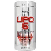 Redukcja tkanki tłuszczowej, Nutrex Lipo 6 Unlimited 120kaps.