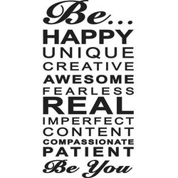 Naklejka Be Happy