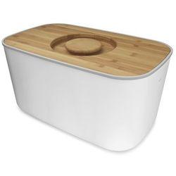 Joseph Joseph - Biały chlebak z bambusową deską do krojenia