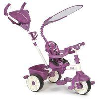 Rowerki trójkołowe, Little Tikes Trójkołowy rowerek 4w1 SPORT biało/różowy