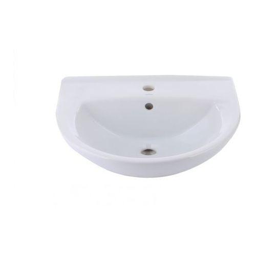 Umywalki, Umywalka klasyczna 55,5x45,5 cm President Cersanit K08-007 - 30 DNI ZWROTU oraz DARMOWA DOSTAWA