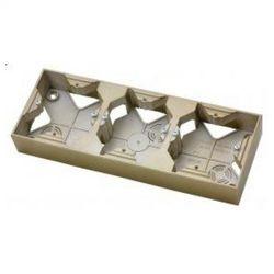 Puszka natynkowa Ospel Impresja PNP-3Y/28 instalacyjna potrójna złoty metalik