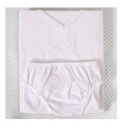 KOMPLET bielizny dla dziewczynki Róża biały haft