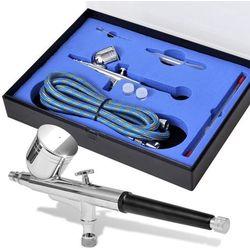 vidaXL Aerograf/pistolet do malowania natryskowego + dysze 0,2 / 0,3 0,5 mm Darmowa wysyłka i zwroty