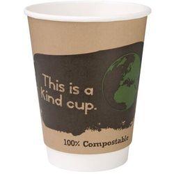Kompostowalne kubki dwuściankowe na kawę 355ml / 12oz Fiesta Green