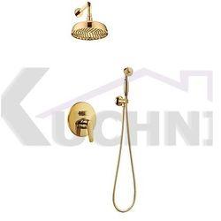 OMNIRES ART DECO SYS AD27 ZŁ ZŁOTO system prysznicowy podtynkowy
