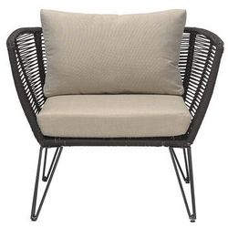 Fotel ogrodowy, czarny, metal - Bloomingville