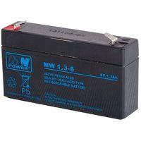 Akumulatorki, Akumulator żelowy 6,0V/1,3Ah MW Pb 97x24x52 mm 6-9
